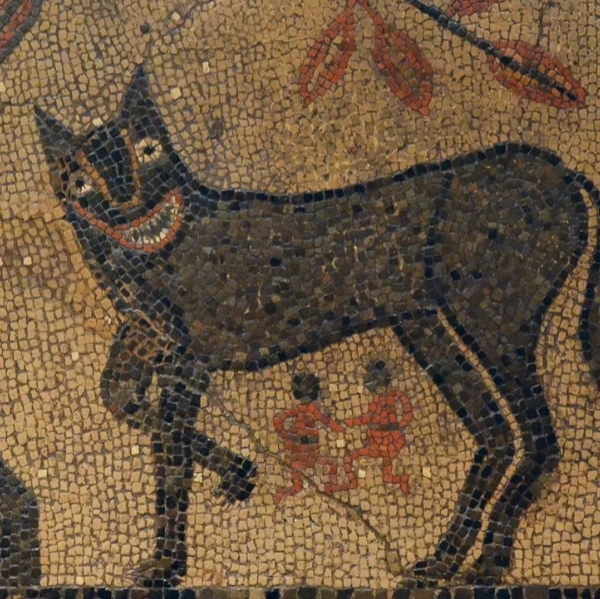 Leeds Art Gallery: She-wolf with Romulus and Remus Mosaic