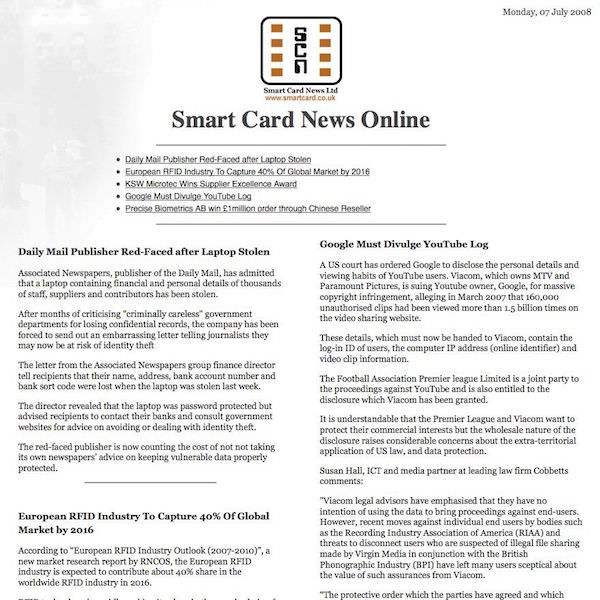 Smart Card News Online